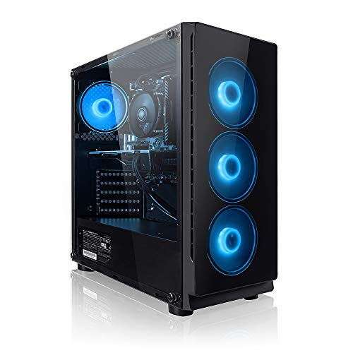 Megaport Gaming PC AMD Ryzen 5 2600 6 x 3.90 GHz Turbo • Nvidia GeForce GTX 1650 4GB • 240GB SSD • 1000GB Festplatte • 16GB DDR4 RAM • Windows 10 Home • WLAN Gamer pc Computer Gaming Computer