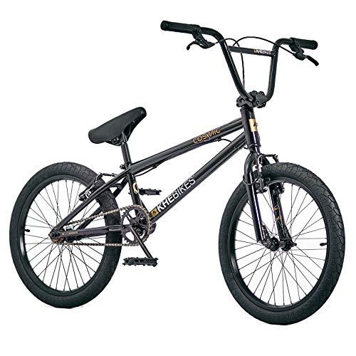 KHE BMX Cosmic 20 Zoll Fahrrad mit Affix Rotor nur 11,1kg [Blau Schwarz Orange] (Schwarz) …