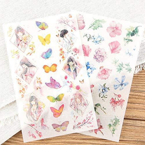 BLOUR 6 Blätter/Los Dekoration Koreanisch Japanisch Kawaii Tagebuch Niedliche Aufkleber Flocken Scrapbooking Schulbedarf Briefpapier