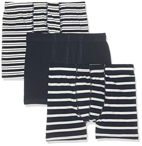 Name IT NOS Jungen NKMTIGHTS 3P Dress Blues NOOS Boxershorts, Mehrfarbig (Dark Sapphire), 110/116 (Herstellergröße: 110-116) (per of 3)