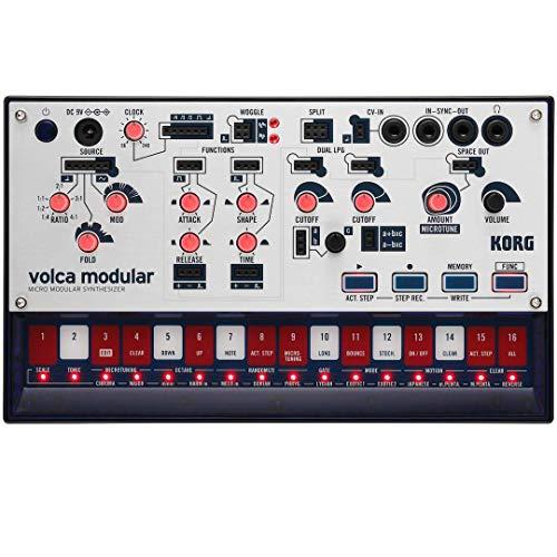 KORG volca modular Synthesizer, Semimodularer Analogsynth, zum Erzeugen von professionellen Musikproduktionen, für Einsteiger geeignet