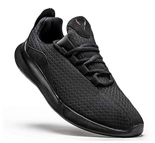 KUTHAENDO Laufschuhe Herren Running Schuhe Sportschuhe Straßenlaufschuhe Sneaker Outdoor Fitness Tennisschuhe Walkingschuhe Trainieren Turnschuhe Joggingschuhe,schwarz,8.5 UK/ 43