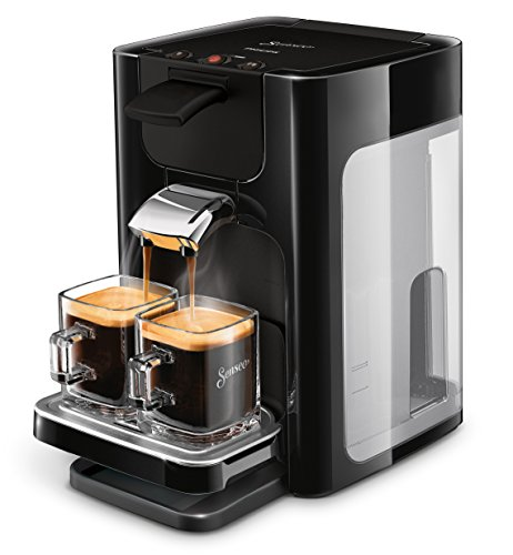 Philips HD7865/60 Senseo Quadrante Kaffeepadmaschine, Edelstahl, mit Kaffee Boost Technologie, Schwarz