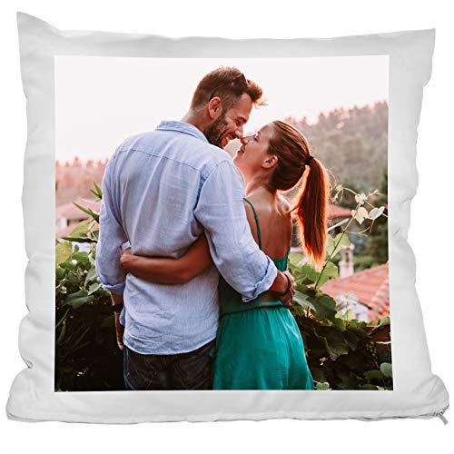 Personello® Fotokissen (40x40) weiß, Kissen mit eigenem Foto Bedrucken Lassen, inklusive Füllung, Fotogeschenke