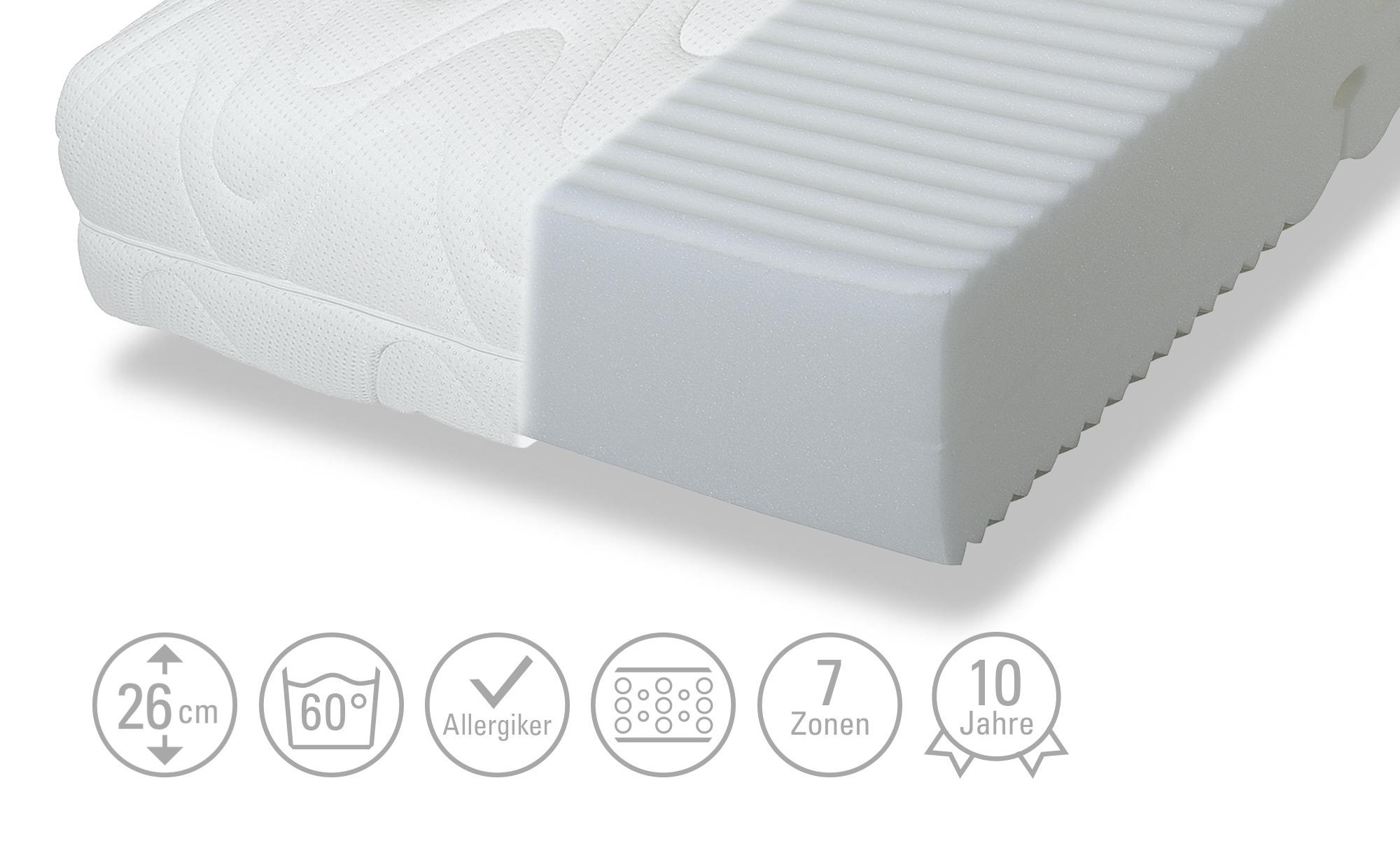 Komfortschaum-Matratze  Impulse Deluxe ¦ weiß Matratzen & Zubehör > Matratzen Größen > Matratzen 90x200 - Höffner