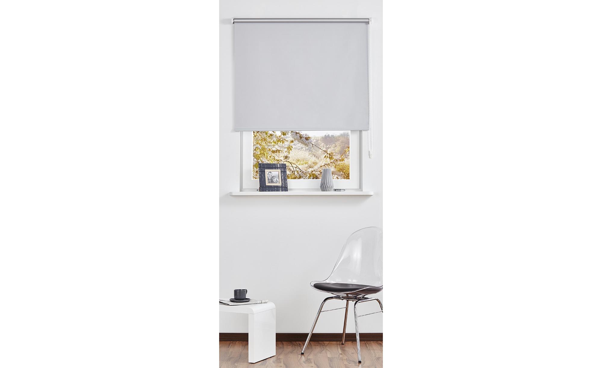 KHG Seitenzug-Rollo - blau - Polyester - 142 cm - Gardinen & Vorhänge ></noscript> Rollos & Sonnenschutz > Rollos - Möbel Kraft