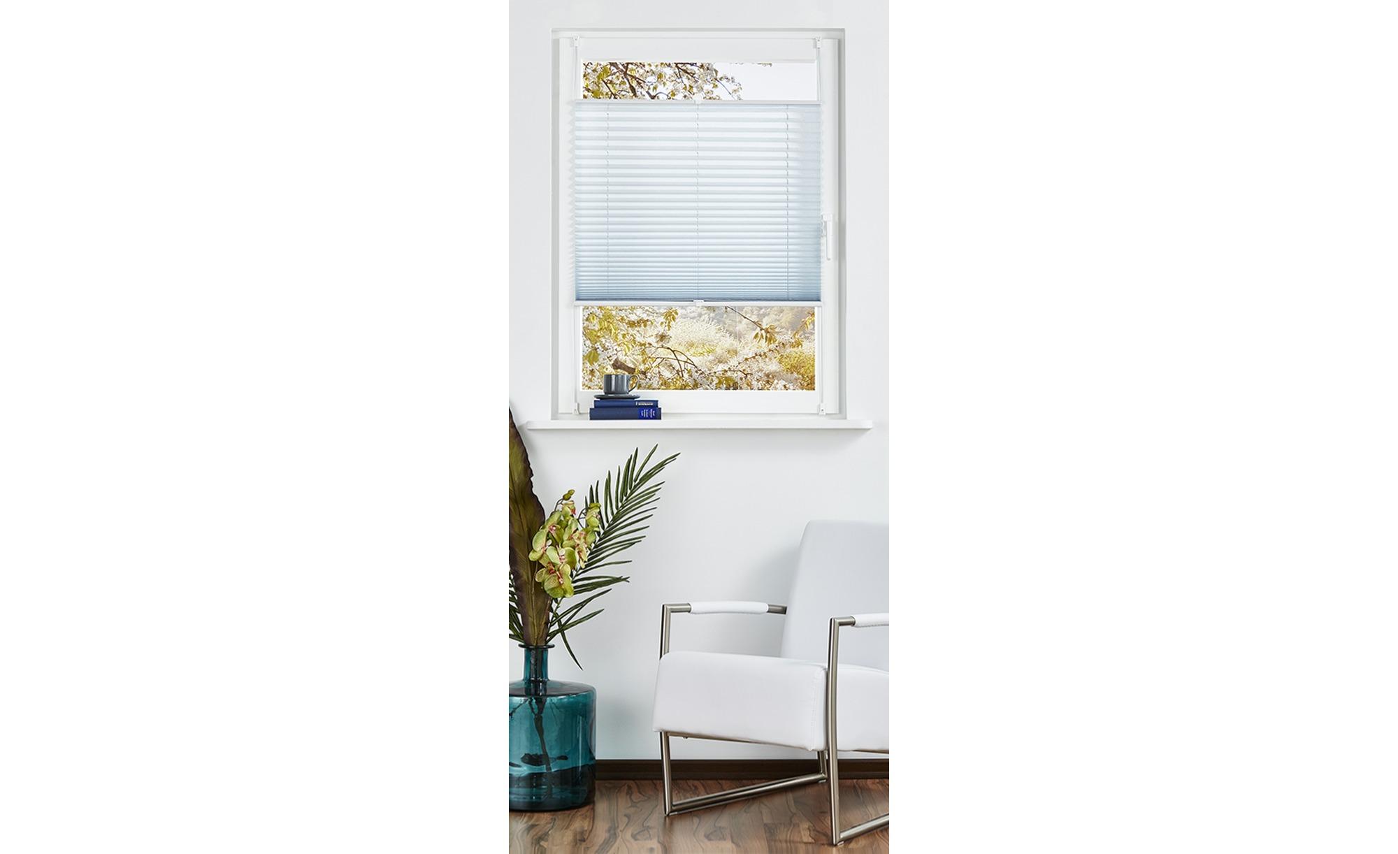 for friends Klemmfix Plissee - blau - Polyester - 110 cm - Gardinen & Vorhänge > Rollos & Sonnenschutz > Plissees - Möbel Kraft