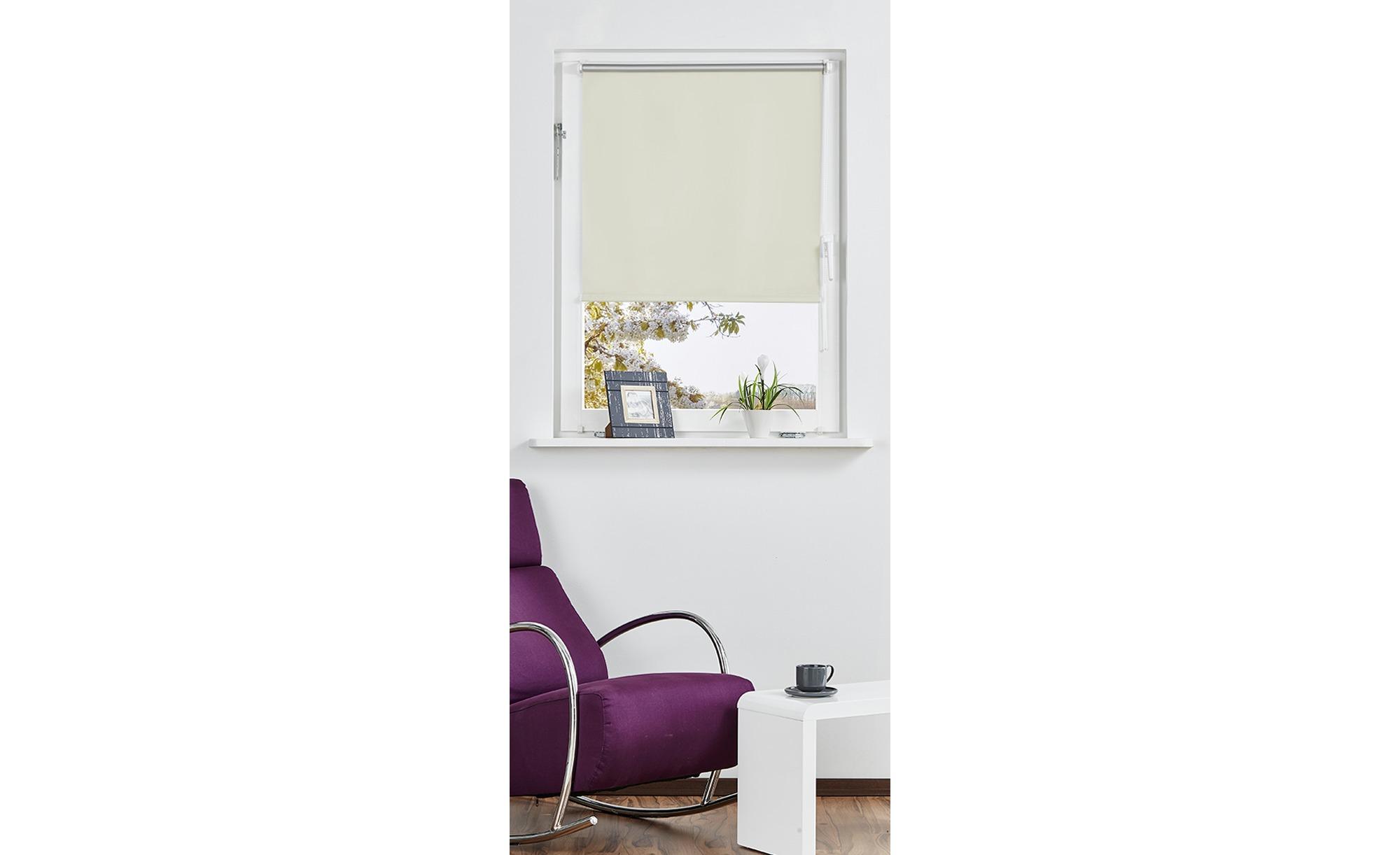 Rollo Klemmfix - creme - Polyester - 100 cm - Gardinen & Vorhänge > Rollos & Sonnenschutz > Rollos - Möbel Kraft