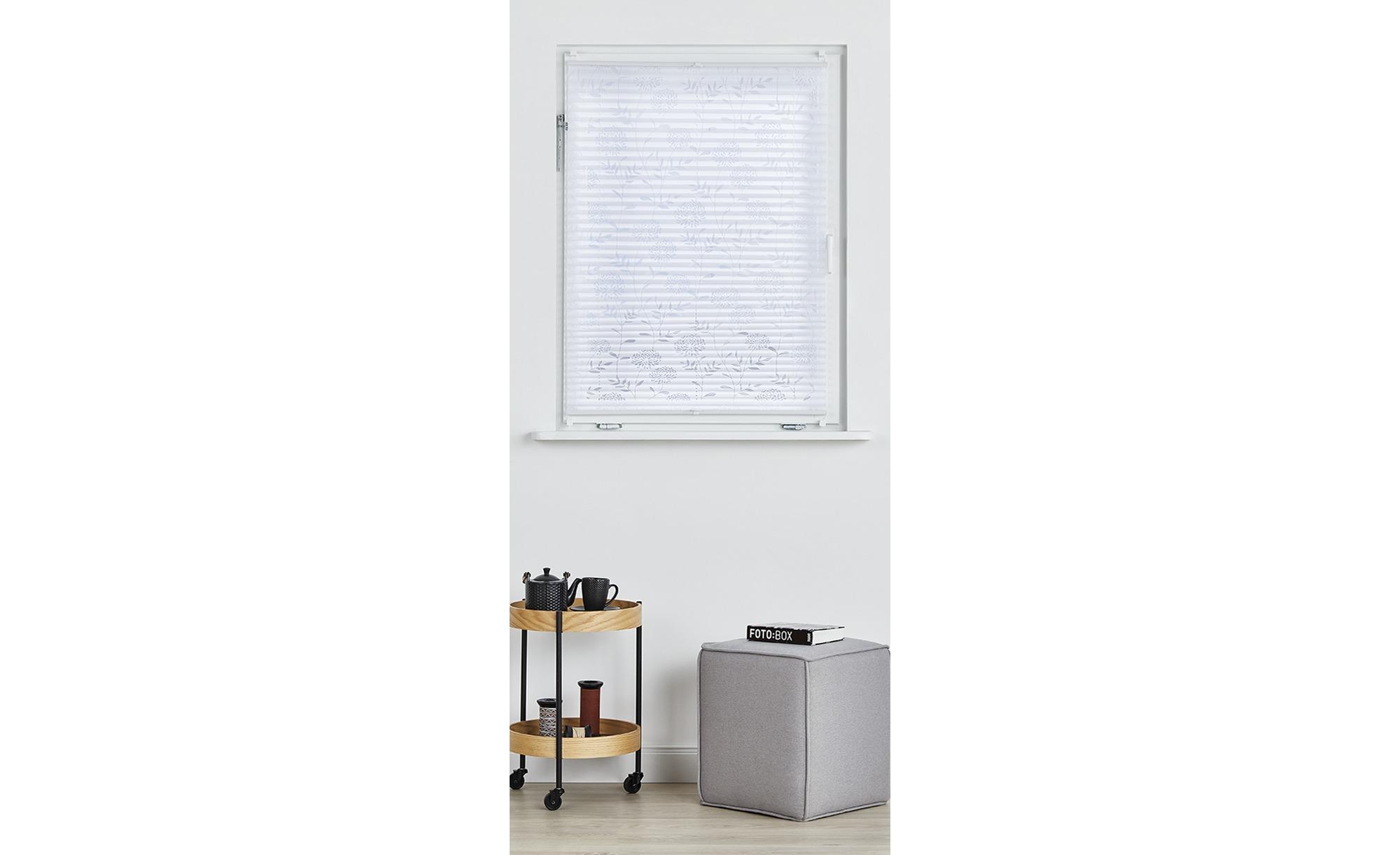 Klemmfix-Plissee - weiß - 100% Polyester - 90 cm - Gardinen & Vorhänge > Rollos & Sonnenschutz > Plissees - Möbel Kraft