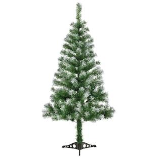 Juskys Weihnachtsbaum 150 cm künstlich mit Schnee & Ständer – Tannenbaum Innen – Weihnachtsdeko