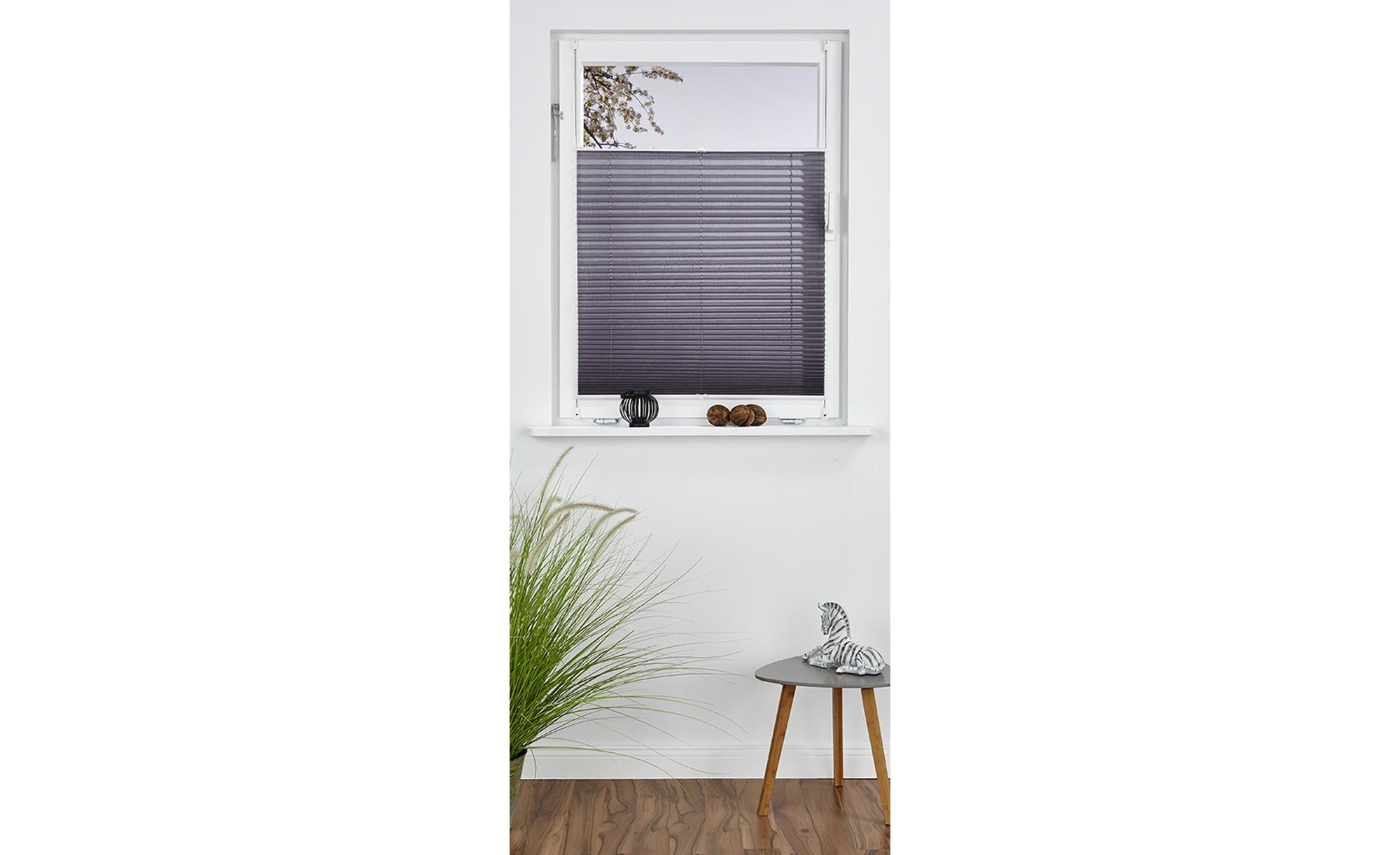 for friends Plissee Klemmifx - grau - Polyester - 45 cm - Sconto