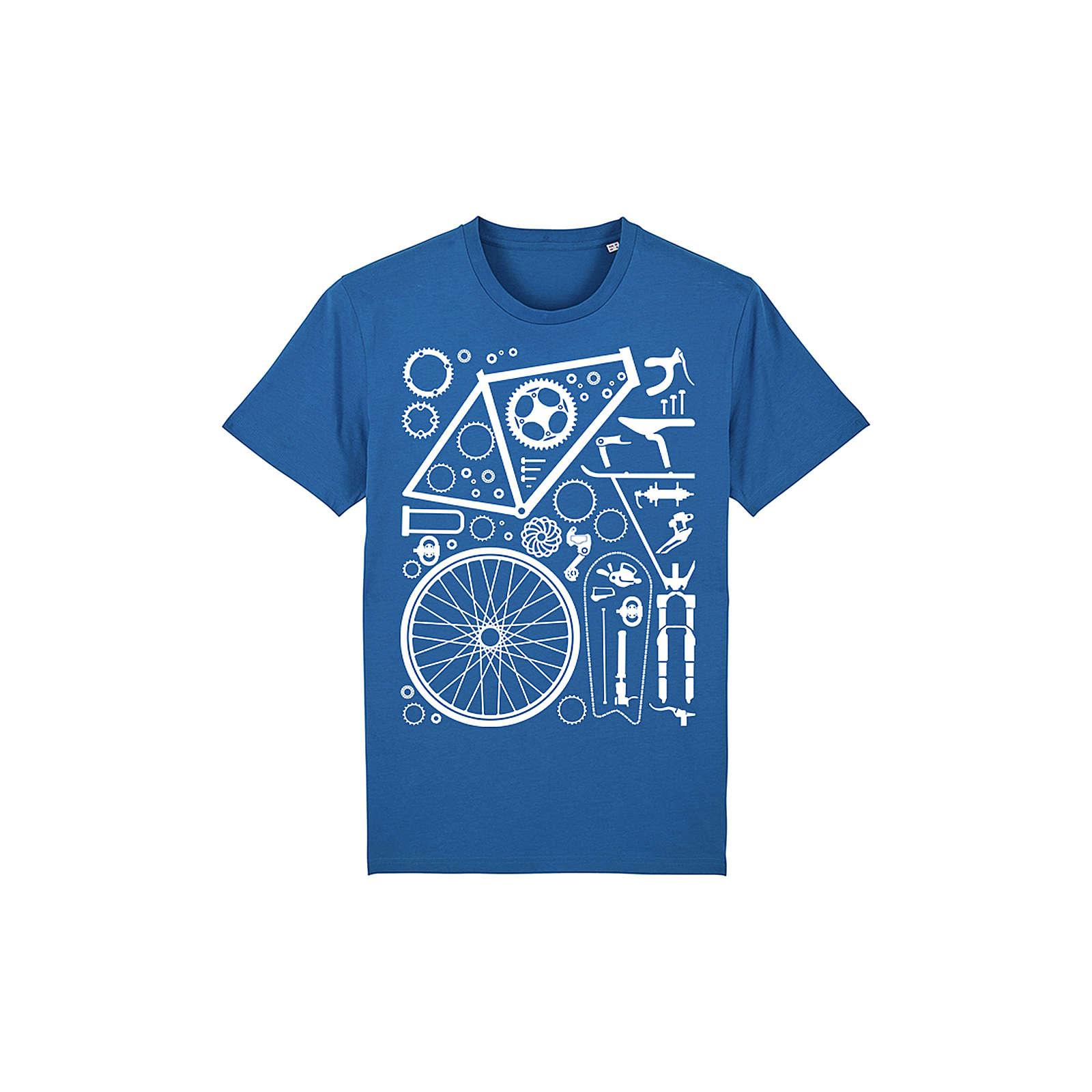 wat? APPAREL T-Shirt Fahrradteile T-Shirts blau Herren Gr. 52