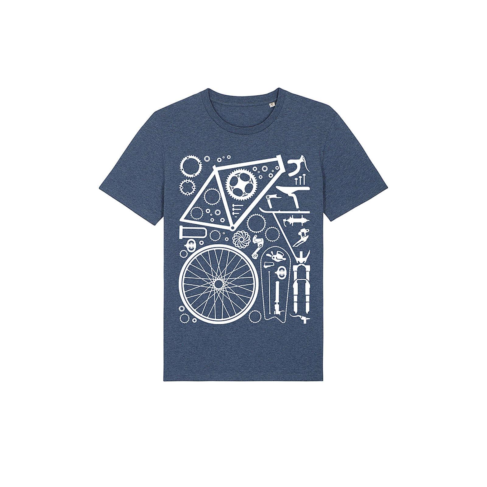 wat? APPAREL T-Shirt Fahrradteile T-Shirts balticblau Herren Gr. 46