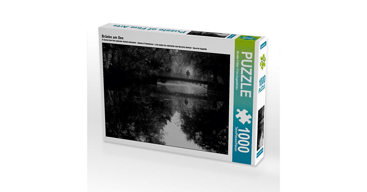 Brücke am See Lege-Größe 64 x 48 cm Foto-Puzzle Bild von Foto Augenblicke-Zaubern mit Licht