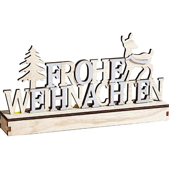 LED Schriftzug Weihnachten