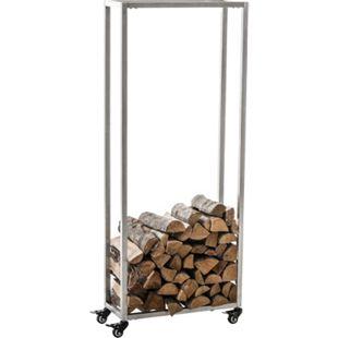 CLP Kaminholzständer HETTA, Brennholzständer, Kamin-Holzregal, Holzlager, Kamin-Holzhalter, Holzbutler,
