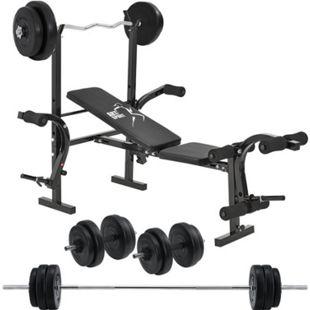 ArtSport Multifunktion Hantelbank Set ProfiGym 1000 & 3in1 Hantelset mit 60 kg Gewichten