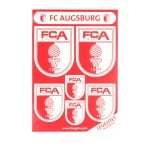 FC Augsburg Leucht Aufkleber Rot Weiss