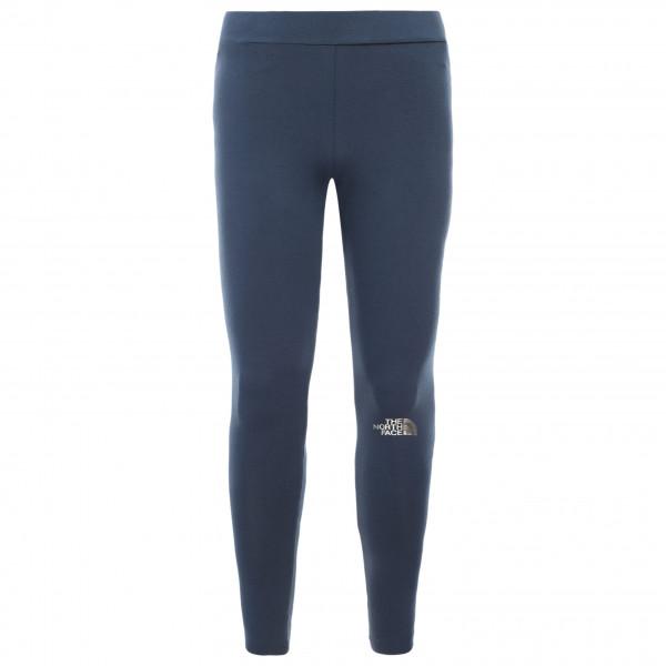 The North Face - Girl's Cotton Blend Big Logo Leggings - Leggings Gr S blau