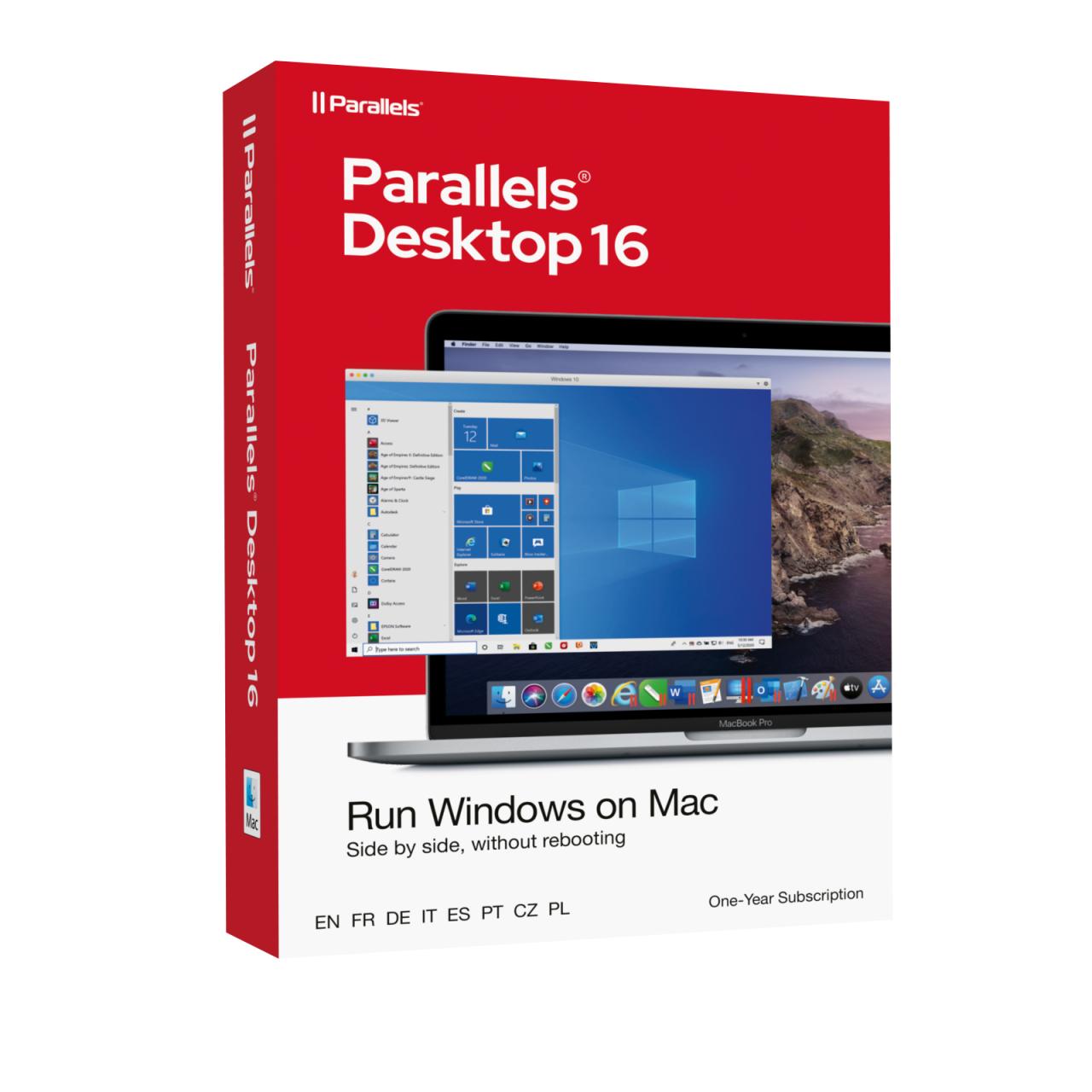 Parallels Desktop 16 für MAC Standard Edition PKC/BOX 1 Jahr