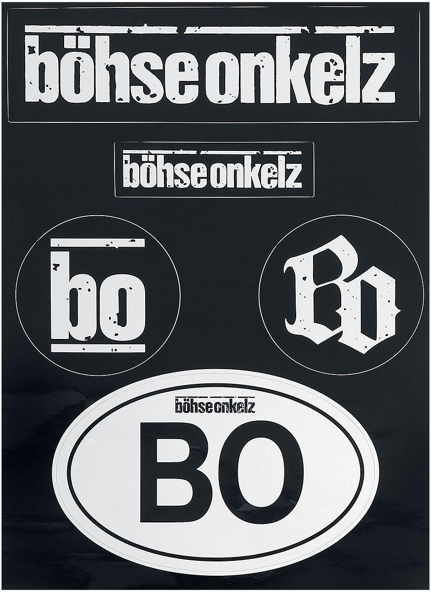 Böhse Onkelz Aufkleber-Set  Aufkleber-Set  schwarz/weiß