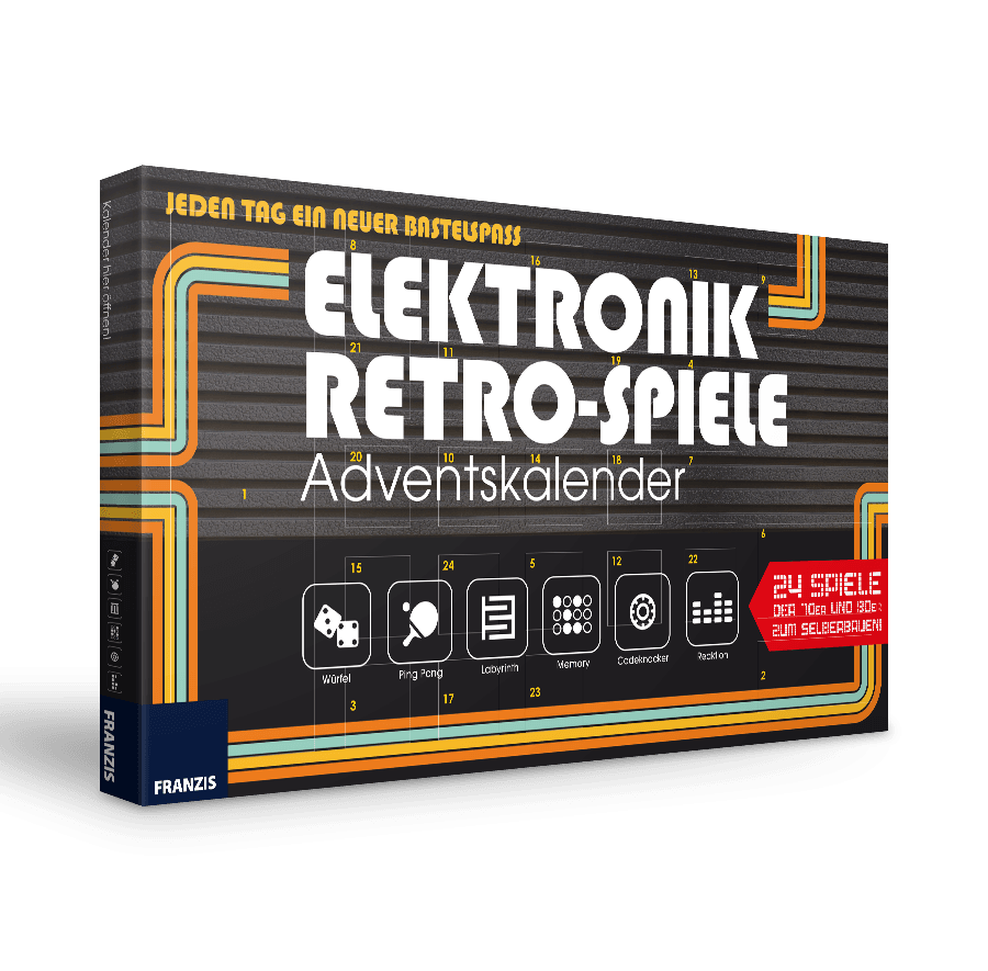 Elektronik-Retro-Spiele-Adventskalender