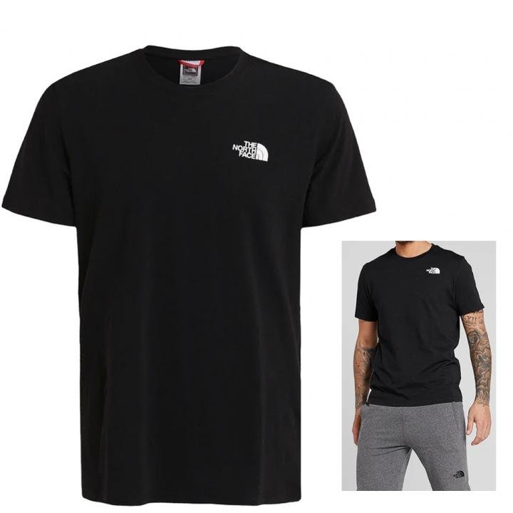 The North Face - Herren T-Shirt Shirt Print, schwarz