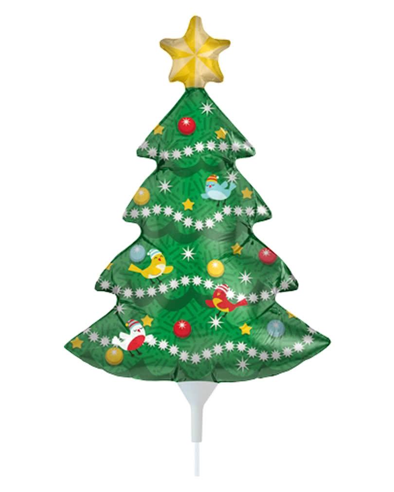 Mini Folienballon Weihnachtsbaum   Adventszeit Dekoration
