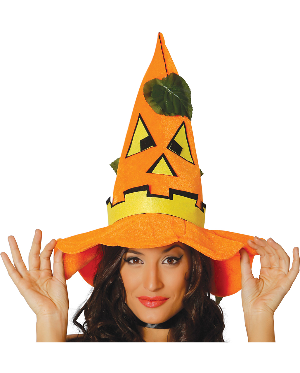 Halloween Kürbis Hut mit Blätter  Halloween Hut