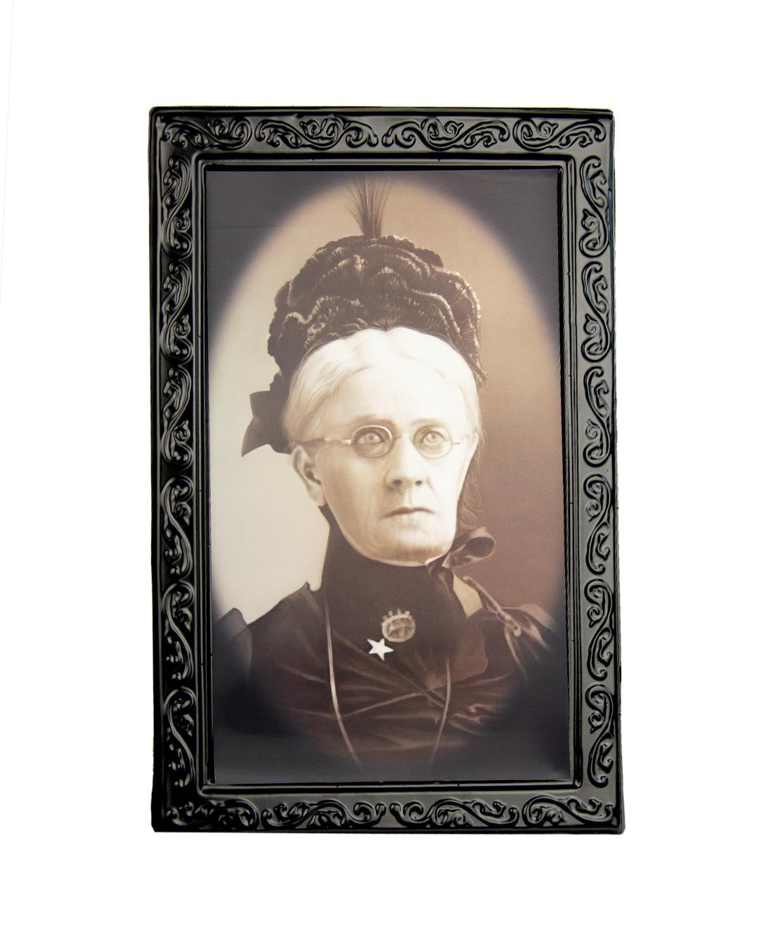 Großes Hologramm Bild - böse Tante -  Halloween Portrait Bild