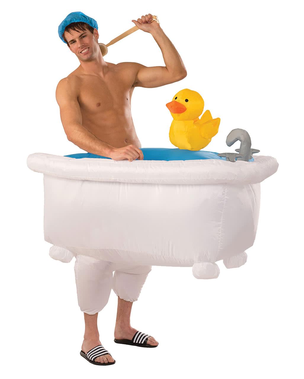 Aufblasbare Badewanne Kostüm  Lustige Faschingskostüme kaufen