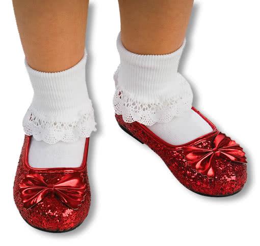 Kinderschuhe Dorothy -Zauberer von Oz-Glitzer Schuhe M-29