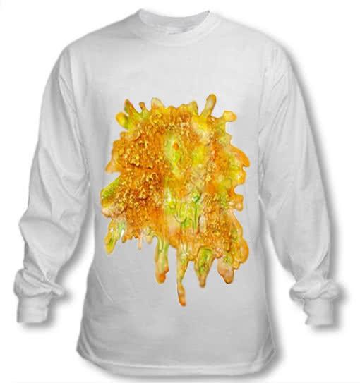 Langärmeliges Wiesn Shirt mit Kotzfleck -Oktoberfest Kleidung-Wiesn