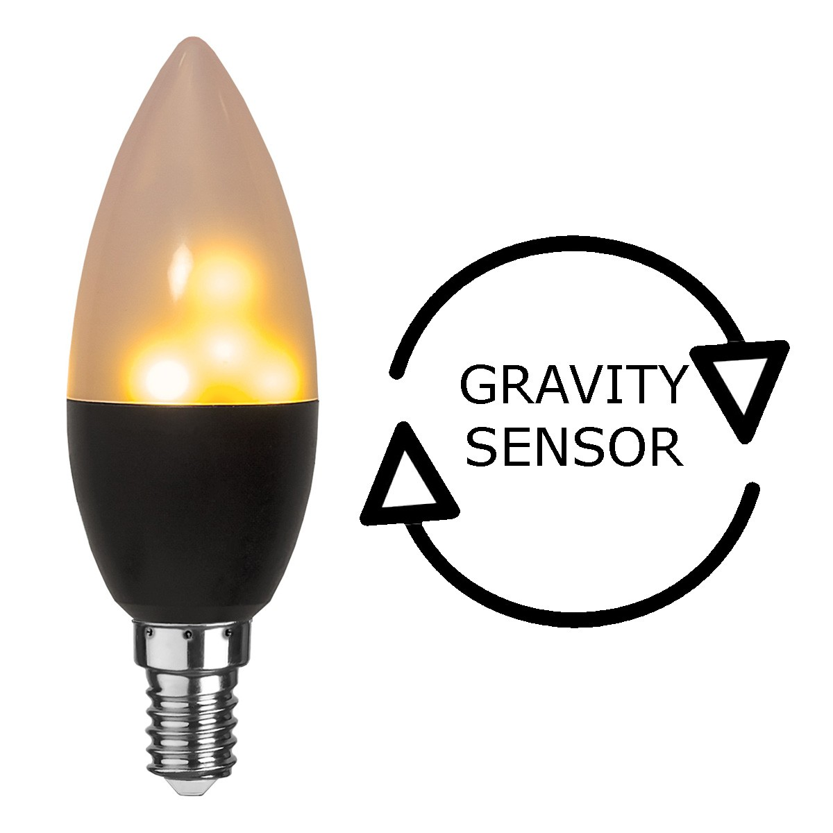 Kerzen Lampe Gravity - Flammensimulation mit LEDs | Flackernde Flammen | E14 | warmweiss