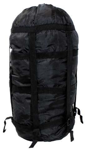 US Kompressionssack, schwarz, Modular, für Schlafsack