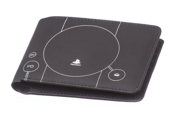 playstation console blue print geldbörse
