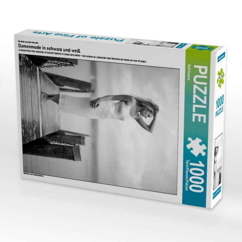 CALVENDO Puzzle Damenmode in schwarz und wei� 1000 Teile Lege-Gr��e 48 x 64 cm Foto-Puzzle Bild von Kaiser Ralf