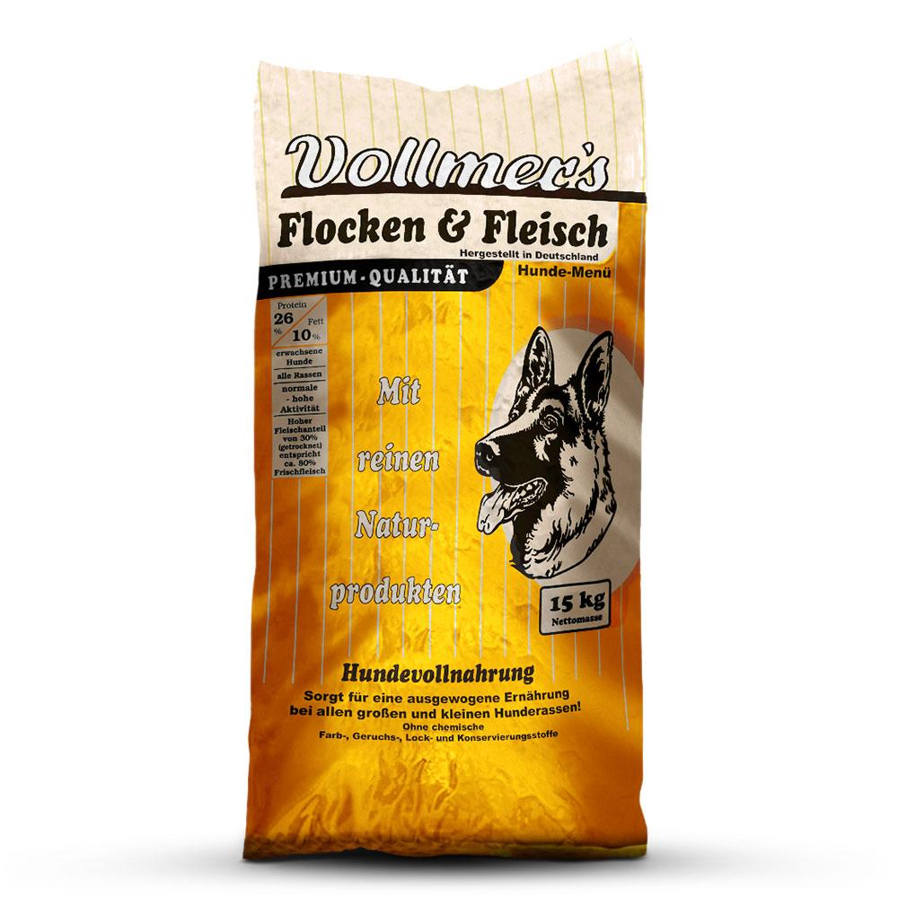 15 kg   Vollmer's   Flocken & Fleisch   Trockenfutter   Hund