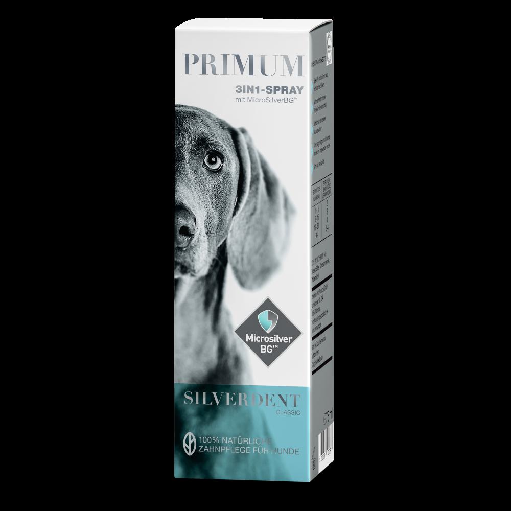 Zahnpflege Hund, Zahnstein Hund, 75 ml Spray, Silverdent Classic, Primum