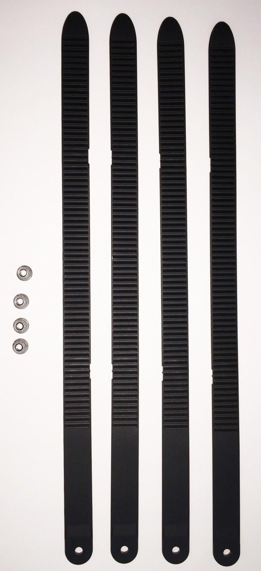 Uebler 4er Zahnbandsatz für Fatbike Transport 19870 schwarz