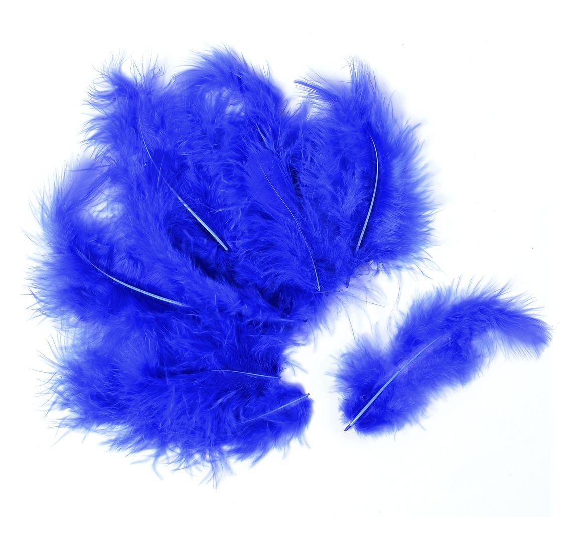 VBS Marabufedern, ca. 15 Stück - Blau