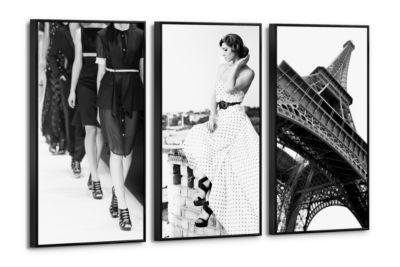 Leinwandbild Set 'Ein Tag in Paris' schwarz