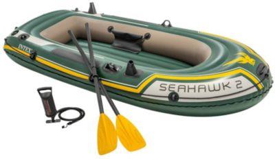 Intex Schlauchboot Seahawk 2 Set, 4-tlg. dunkelgrün