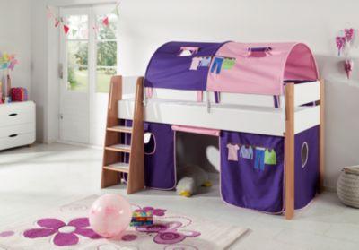 Relita 2er Tunnel Hoch-und Etagenbetten, Kleider, rosa/violett, 150 cm  Kinder