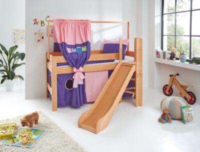 Relita Zeltstoffset Spielbett LEO, Kleider, rosa/violett  Kinder