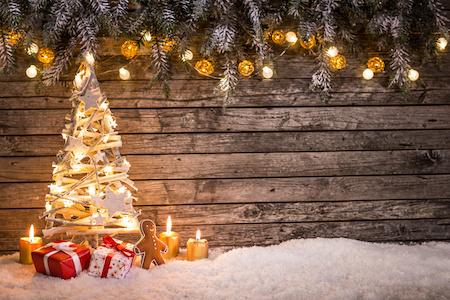 Deko für Weihnachten mit Rechnungskauf