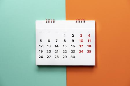 Kalender Rechnungskauf